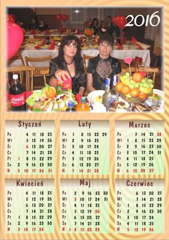 zdjęcie na kalendarzu