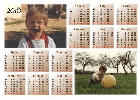cały kalendarz wydruk