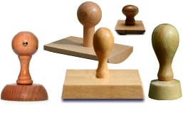 pieczątka kołek drewniana